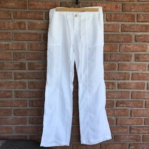 2 for 25 🏷 Pure white linen pants 🤍